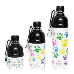 Stainless Steel Lick 'n Flow Pet Water Bottles - Baby Paws Pet Water Bottle, Water Bottles, Drink Bottles, Dog Feeding Bowls, Reflective Dog Collars, Dog Nose, Plastic Bowls, Travel Bottles