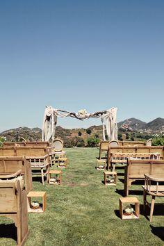 Malibu Wedding at Saddlerock Ranch from Heather Kincaid  Read more - http://www.stylemepretty.com/2012/11/26/malibu-wedding-at-saddlerock-ranch-from-heather-kincaid/