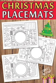 Printable Christmas Placemats - Itsy Bitsy Fun - Free Printable Christmas Placemats for Kids - Christmas Activities For Kids, Christmas Party Games, Preschool Christmas, Free Christmas Printables, Christmas Nativity, Christmas Movies, Printable Christmas Decorations, Christmas Music, Christmas Colors