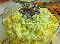 I want to give you a delicious salad recipe. Full note by anyone who eats . Turkish Salad, No Gluten Diet, Joy Of Cooking, Cooking Recipes, Healthy Recipes, Homemade Desserts, Turkish Recipes, Fish Dishes, Salad Recipes