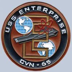 Buy CVN-65 USS Enterprise Leather patch FlightJacket.com