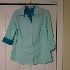 Easter Sale**Coldwater Creek Blouse**  Worn Once** 3/4 Sleeves** Can Be Up Or Down** Tops Blouses