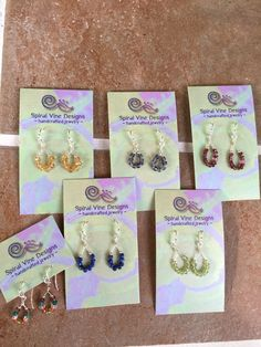 New gemstone earrings for sale at Northwood Gallery in Midland, Michigan