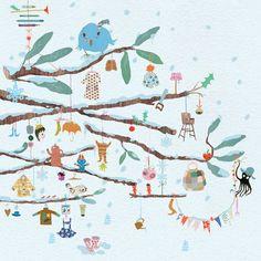 Tinou Le Joly Senoville - illustrations Playtime sous la neige