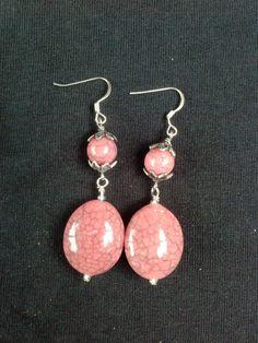 Pink Earrings Pink Stone Earrings Light by HandmadeByAntalissa