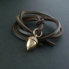 Bronze acorn