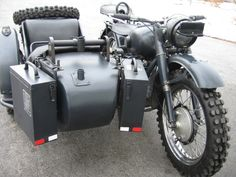1944 M-72 Soviet wartime military motorcycle with side car