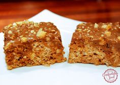 comfortable food - snickers bar rice krispies treats recipe
