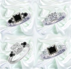 Ahhhh... Love, love, love these Disney engagement rings!