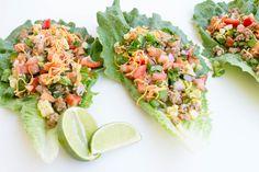 Turkey Taco Lettuce Wraps via @krollsKorner
