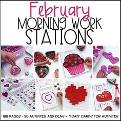 Who Loves February Morning Work? I do! And You Should, Too! - Differentiated Kindergarten