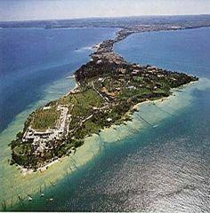 Sirmione penisola catulliana VISTA AEREA - Grafiche Zarantonello -Sirmione Aut. SMA n.121
