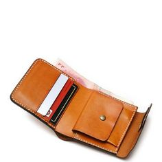 Handmade leather vintage women short wallet purse wallet – Evergiftz