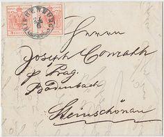 Austria, 1850, Bohemia, STEKEN, 30 p, 3 M III (3), letter to WIEN, P!