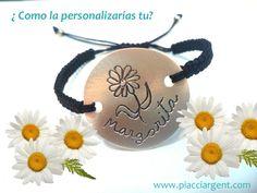 Tu pulsera ideal está diseñada pot ti. #pulsera con nombres #joya personalizada #pulsera de plata