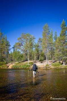 Hiking at the Urho Kekkonen National Park, Lapland, Finland