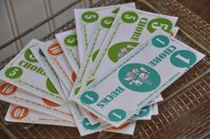 Free downloadable chore bucks.  Allow kids to exchange bucks for privileges, activities, or actual money.