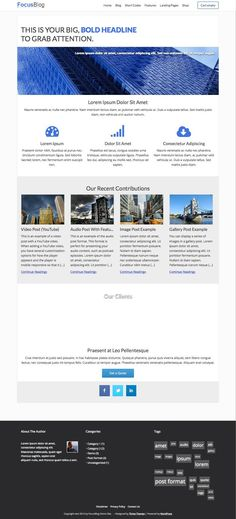 FocusBlog WordPress Business Blog Theme