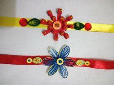 Beautiful handmade rakhis with quilling work done. This rakhi festival go…