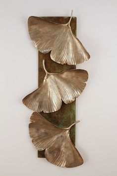 Ginkgo Leaf Metal Wall Sculpture