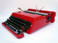 Olivetti Valentine, 1969, clearly 10 years ahead of its time