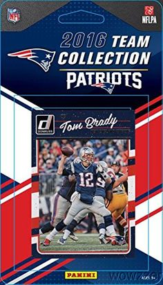 New England Patriots 2016 Donruss NFL Football Factory Sealed Limited Edition 13 Card Complete Team Set with TOM BRADY Rob Gronkowski Steve Grogan  Many More Shipped in Bubble Mailer *** You can get additional details at the image link. (Note:Amazon affiliate link) #SportsTradingCards