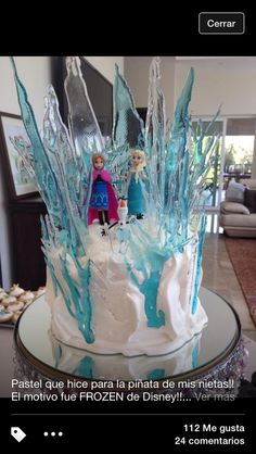 Frozen Ana and Elsa Cake For my Paos Bday