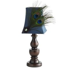 Just got two of these for Kenzer's new room! - Peacock Feather Mini Lamp