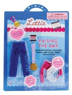 Subiendo el listón - Conjunto de ropa para muñeca Lottie