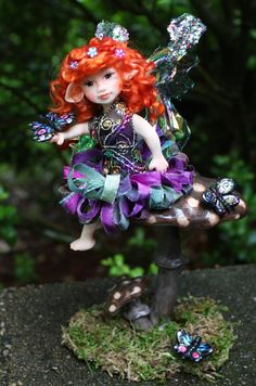 Butterfly Fairy Polymer Clay Art Doll by JPollardCreations on Etsy