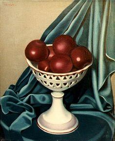 Apples in a Fruit Bowl By Tamara de Lempicka