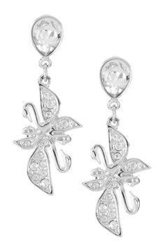 Swarovski Permanent Swan Drop Earrings