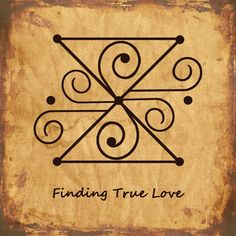 FINDING TRUE LOVE Sigil Wiccan Spell Book, Witch Spell, Wiccan Spells, Magick, Witchcraft, Pagan, Magic Symbols, Symbols And Meanings, Ancient Symbols