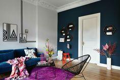 Shelves, washi tape, bold colours