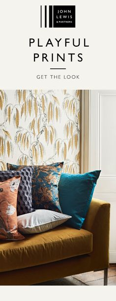 We're tapping into the maximalist trend and pairing prints against a backdrop of ochre. Create a space as unique as you are, with playful prints and sumptuous textures. Discover the new John Lewis & Partners Home collection. Living Room Decor, Bedroom Decor, Home Decor Trends, Home Collections, Soft Furnishings, Home And Living, Home Accessories, Home Furniture, Decoration