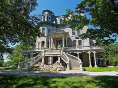 LaSalle Mansion   The Second Empire style Hegeler Carus Mansion on Seventh Street in  LaSalle, Illinois.
