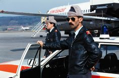 Swiss airport police, 1985.