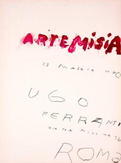 [NN] Cy Twombly / ARTEMISIA ポスター 1980_画像1