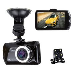 """3.0"""" LCD FHD 1080p 170 Degree Wide Angle Dual Channel Dashboard Camera Recorder Car Dash Cam with Rear Camera, G-Sensor, Loop Recording. Clear and wide3.0 inch screen display in 170 degree angle with cigarette car power charger adapter, double display recording modes at a time from main camera and rear camera, supports night vision modes.█Promotion: Discount Code IY9FVG34, Price would 10 dollars off. Deadline: Nov 15. HD Image and video resolution of 1920 X 1080 and 680 X 480 for the rear..."""