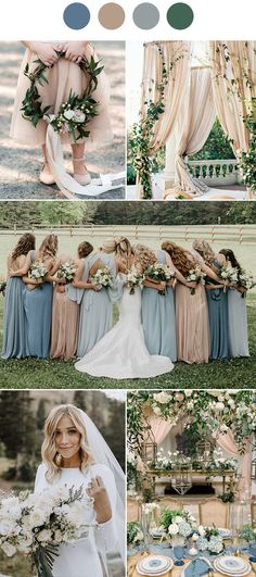 9 Ultimate Dusty Blue Color Combinations for WeddingDusty Blue wedding color palette spring wedding color palette Earth tones wedding bluewedding weddingdesign bridesmaiddresses dustyblue color scheme ideas for wedding Wedding Color Pallet, Rustic Wedding Colors, Winter Wedding Colors, Wedding Blue, Winter Weddings, Burgundy Wedding, Popular Wedding Colors, Champagne Wedding Colors Scheme, Champagne And Blue Wedding