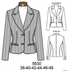 Blazer Blazer, Suits For Women, Jackets For Women, Clothing Sketches, Uniform Design, Fashion Sketchbook, Fashion Design Sketches, Coat Patterns, Jacket Pattern