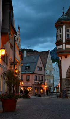 Fussen old town, Germany