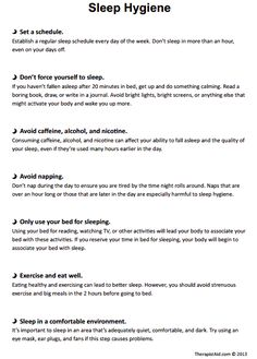 Printables Sleep Hygiene Worksheet therapy worksheets and sleep on pinterest hygiene handout therapist aid