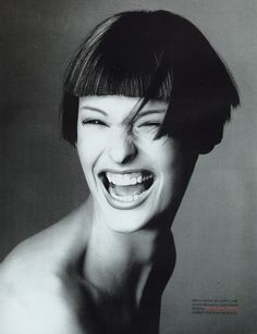 Linda Evangelista for Vogue Italia, March 1993.  Photographed by Steven Meisel.
