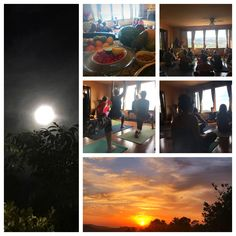 The first day of the Yoga and Meditation Weekend Retreat was blessed with an amazing sunset and a beautiful moon. These happy Yogis experienced delicious food, yoga philosophy, great yoga and blissful meditation! Yoga Philosophy, Beautiful Moon, Amazing Sunsets, Yoga Inspiration, Delicious Food, Meditation, Blessed, Happy, Painting