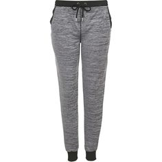 TOPSHOP Space Dye Loungewear Joggers ($52) ❤ liked on Polyvore featuring activewear, activewear pants, pants, bottoms, jeans, joggers, calças, grey marl and topshop