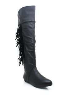 leather fringe boots. Just ordered these in chestnut!