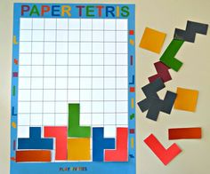 This DIY Paper Tetris is an awesome boredom buster game. It boosts creativity, encourages thinking for kids. It comes with free paper tetris printables Paper Games For Kids, Games For Toddlers, Games For Teens, Game Room Kids, Game Development Company, Boost Creativity, Diy Papier, Diy Games, Pinterest Diy