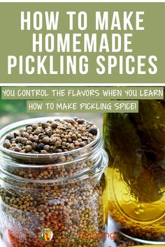 With this easy DIY pickling spice recipe, YOU control the flavors. Experiment and see what you come up with! Easy Pickling Spice Recipe, Recipe Spice, Pickling Spices, Home Canning Recipes, Cooking Recipes, Canning Tips, Kimchi, Canning Pickles, Canning Vegetables