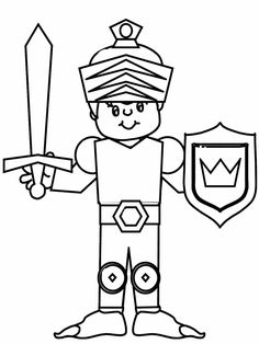 queen knight2 fantasy coloring pages